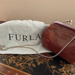 Furla Croc Embossed Bag (Vintage) w/ Storage Bag